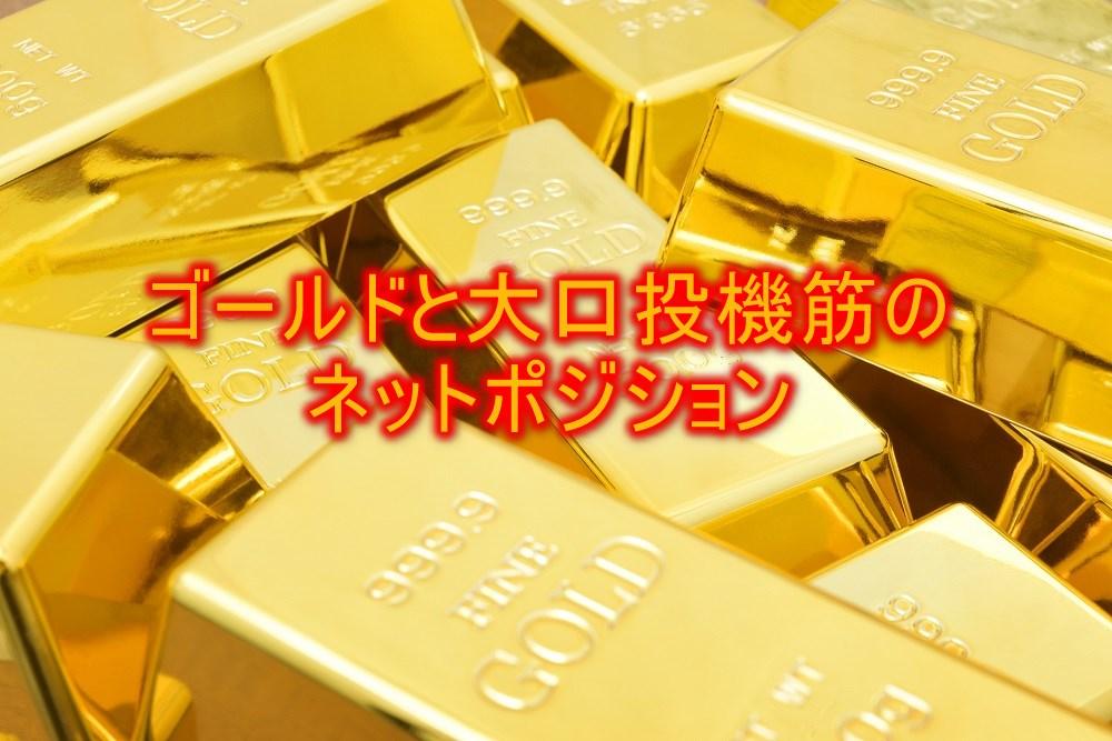 ゴールドと大口投機筋のネットポジション