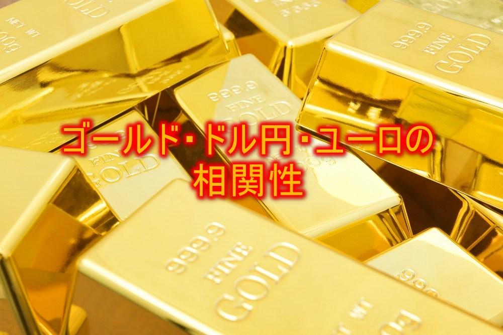 ゴールド・ドル円・ユーロの相関性